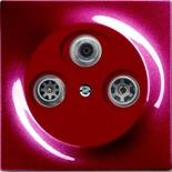 S4110+1753-0-0108 - Розетка TV-SAT-FM проходная, с механизмом Jung и панелью ABB Impuls (бордо)