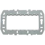 N2474.9 - Суппорт стальной для рамок итальянского стандарта, на 4 модуля, без монтажных лапок, ABB ZENIT