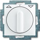 1101-0-0921 - Выключатель жалюзи с поворотной ручкой, без фиксации (белый)