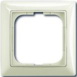 1725-0-1511 - Одноместная рамка с декоративной накладкой ABB Basic 55 (шале-белая)