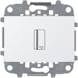 N2214.5 BL (1 шт.) + N2271.9 (1 шт.) - Карточный выключатель, 16А, АББ Зенит (белый)