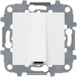 N2207 BL (1 шт.) + N2271.9 (1 шт.) - Вывод кабеля с зажимом, ABB ZENIT (белый)