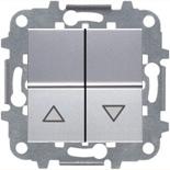 N2244.1 PL (1 шт.) + N2271.9 (1 шт.) - Выключатель жалюзи с фиксацией, 16А, ABB ZENIT (серебристый)