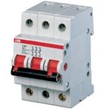 2CDE283001R0125 - Рубильник ABB E203r, 125A, 3-полюсный (красный переключатель)