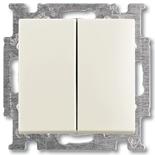 1012-0-2148 - Выключатель двухклавишный ABB Basic 55, простой (слоновая кость)