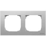 2CLA857200A1401 - Рамка 2-местная ABB Sky (нержавеющая сталь)