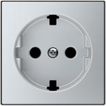 2CLA858890A1301 - Накладка для розеток SCHUKO с плоской поверхностью, ABB SKY (серебристый)