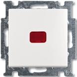 1012-0-2153 - Выключатель одноклавишный с подсветкой ABB Basic 55 (белый)