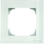 2CLA857100A3001 - Рамка 1-постовая ABB Sky (белое стекло)