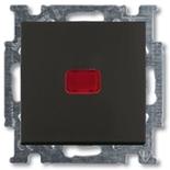1012-0-2180 - Переключатель одноклавишный с подсветкой ABB Basic 55 (шато-черный)