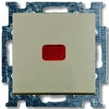 1012-0-2165 - Выключатель одноклавишный с подсветкой ABB Basic 55 (шампань)