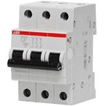 2CDS253001R0065 - Автоматический выключатель АВВ S203, 3-полюсный, 6А, класс B