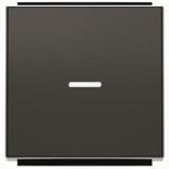 2CLA850130A1501 - Клавиша для 1-клавишных выключателей, переключателей, кнопок с линзой подсветки, ABB Sky (черный бархат)