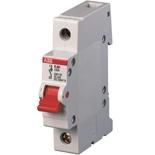 2CDE281001R0125 - Рубильник ABB E201r, 125A, однополюсный (красный переключатель)