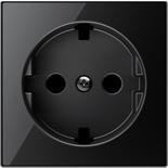 2CLA858890A2501 - Накладка для розеток SCHUKO с плоской поверхностью, ABB SKY (чёрное стекло)