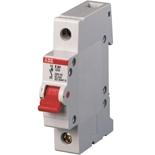 2CDE281001R0016 - Рубильник ABB E201r, 16A, однополюсный (красный переключатель)