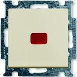 1012-0-2150 - Переключатель одноклавишный с подсветкой ABB Basic 55 (слоновая кость)
