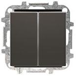 8122+2CLA851100A1501 - Переключатель двойной, 10А, с клавишей ABB Sky (черный бархат)