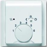 1032-0-0498+1710-0-3577 - Терморегулятор для тёплого пола с электроподогревом, 16А/250В, с лицевой панелью ABB Impuls (альпийский белый)