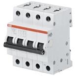 2CDS274001R0061 - Автомат АВВ S204M-D6, 4-полюсный