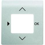 6430-0-0342 - Лицевая панель для терморегулятора (термостата) электронного для тёплых полов, с таймером, ABB Impuls (серебристый металлик)